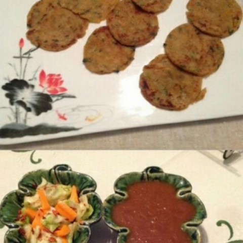 Photo of Potato pancakes (alu paratha) with Salad and Chutney by usha balagopal at BetterButter
