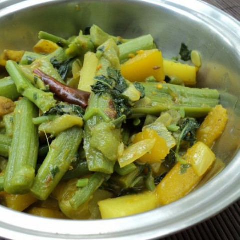 Photo of Khadaa Tarkari / Amaranthus Stems Curry by sweta biswal at BetterButter