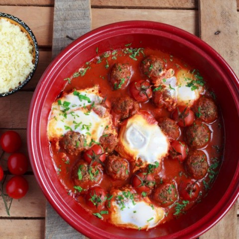 Photo of Meatball Tagine with eggs by Ritu Sharma at BetterButter