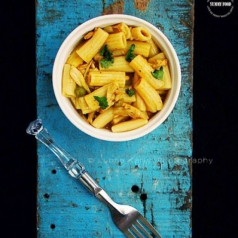 Photo of Penne with Chicken & Peas by Lubna Karim at BetterButter