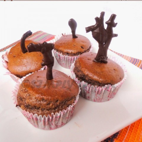 Photo of Eggless Chocolate Muffins by Preeti Garg at BetterButter
