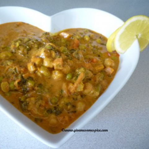 Photo of Mixed Vegetable and Chick Peas Jalfrezi by Mina Joshi at BetterButter