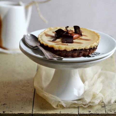 Photo of Deep Dark Salted Butter Caramel Eggless Yogurt Cheesecake by Deeba Rajpal at BetterButter