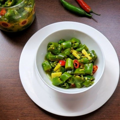Photo of Green chili and ginger pickle by Anjana Chaturvedi at BetterButter