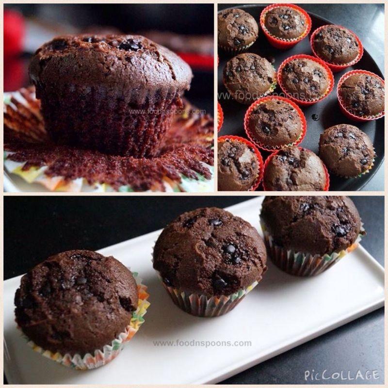 How to make Eggless Chocolate Cupcakes