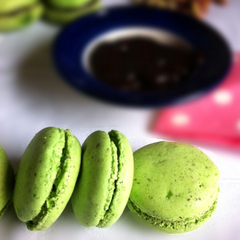 Photo of Pistachio Flour Macarons with Chocolate Ganache by Vijetha Rangabashyam at BetterButter