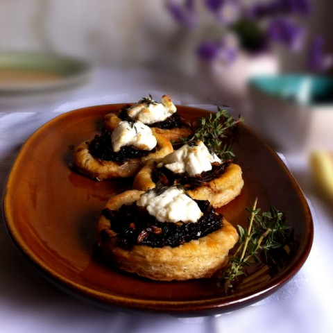 How to make Goat's Cheese Tart with Onion Jam