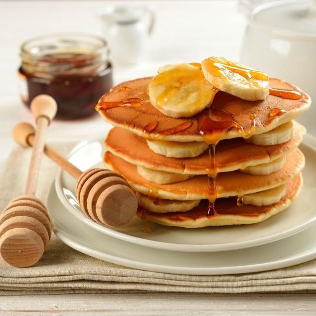 How to make Banana Honey Whole wheat Pancakes