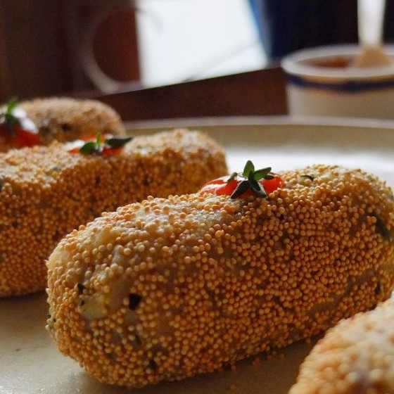 Photo of Amaranth Potato Thyme Croquette by Vanita Vasudevan at BetterButter