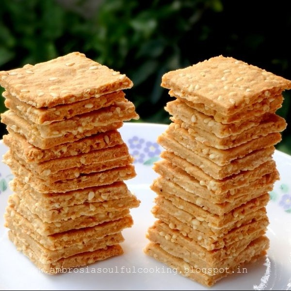 How to make Whole Wheat Sesame Crackers (Vegan)