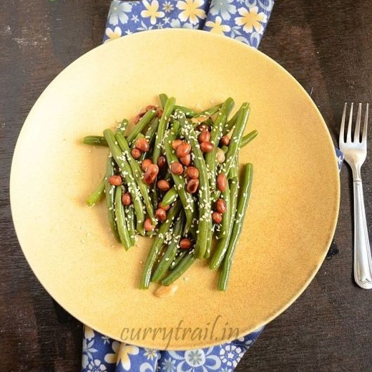 Photo of Nutty Haricot Beans | Green Beans Saute | Tilwali Phalli by Jyothi Rajesh at BetterButter