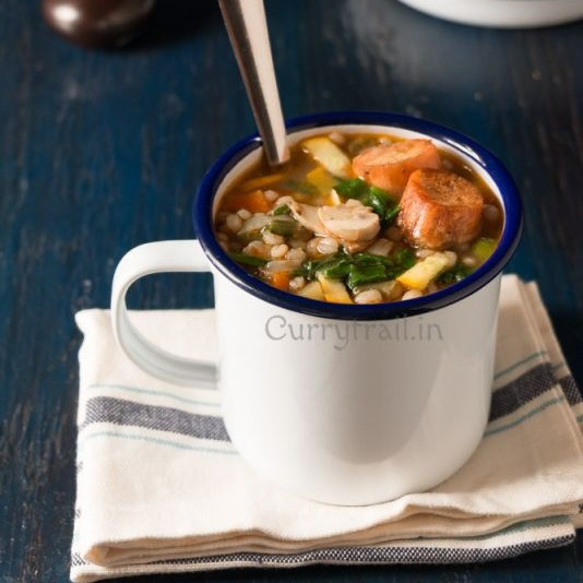 Photo of Barley Minestrone Vegetable Soup by Jyothi Rajesh at BetterButter