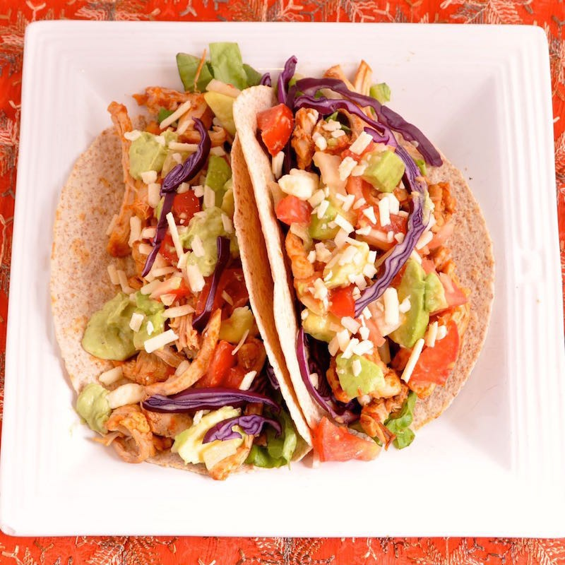 How to make Pulled Chicken tacos