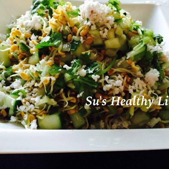 Photo of Methi Sprouts Salad by Suchitra Kamath at BetterButter