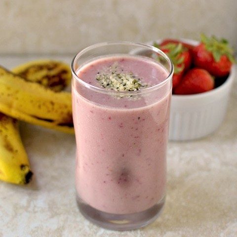 Photo of Banana Strawberry Protein Smoothie by Pavani Nandula at BetterButter