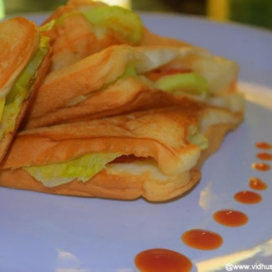 Photo of Lettuce, Cucumber and Apple Sandwich by Srividhya Ravikumar at BetterButter