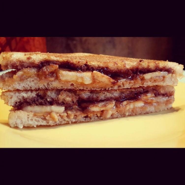Photo of Nutella, Peanuty & Salted Whisky Caramel Banana Sandwich by Disha Khurana at BetterButter