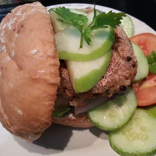 Photo of GREEN APPLE SPROUTS BURGER by Bindhya Jena at BetterButter