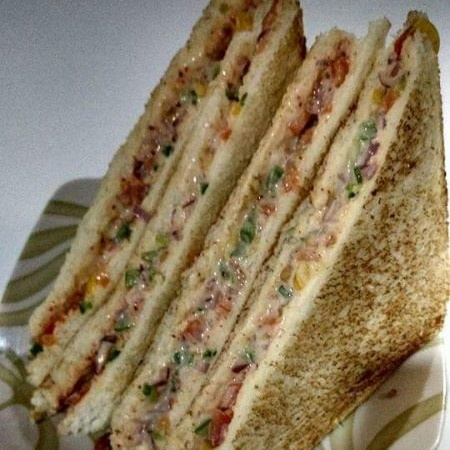 How to make Healthy Hung Curd \ Mayonnaise Sandwich