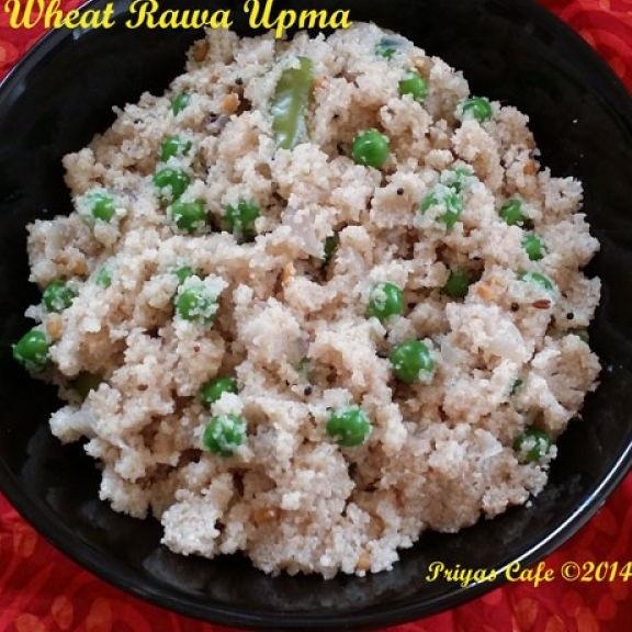 Photo of Wheat Rawa Upma with Green peas by Priya Alagappan at BetterButter