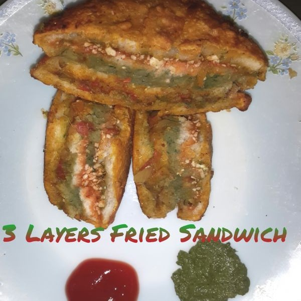 Photo of 3 LAYERS FRIED SANDWICH by Purvi Gogri at BetterButter