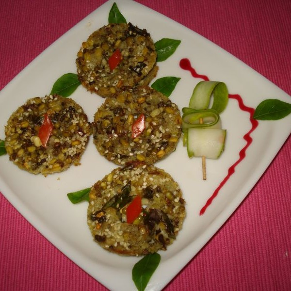 How to make Sprouted Moong Handvo