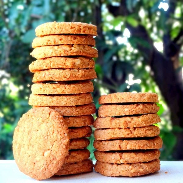 How to make Whole Wheat Oats and Almond Cookies