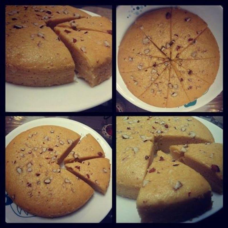 Photo of Eggless Golden Almond Cake by Aesha Parikh at BetterButter
