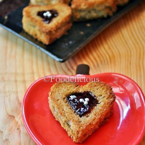 How to make Jammy Hearts