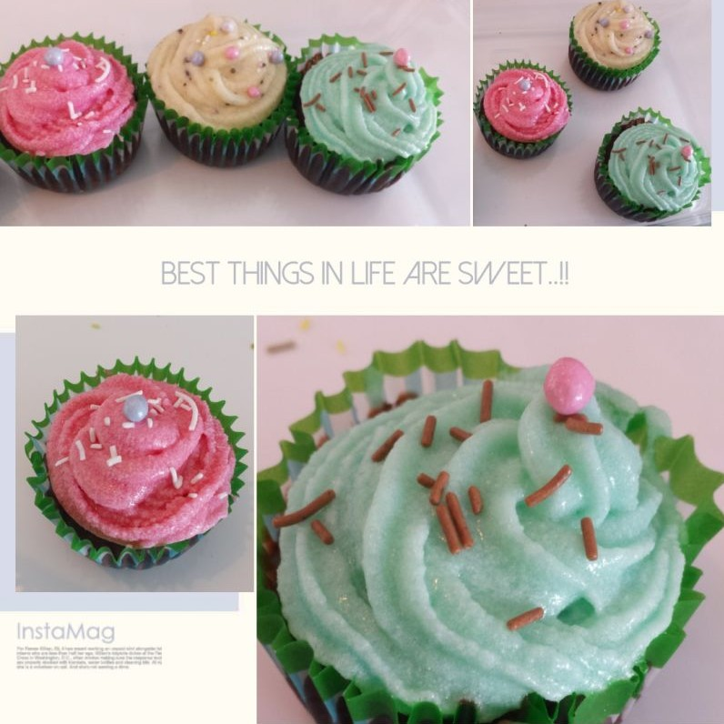 Photo of Eggless Chocolate cupcakes with cream cheese frosting by Deepa Gupta at BetterButter
