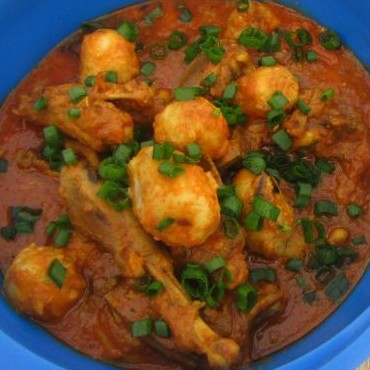How to make Chicken Curry With Colocasia