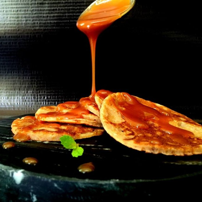 Photo of Dates Pancakes with Caramel sauce by Chef (Mrs) Reetu Uday Kugaji at BetterButter