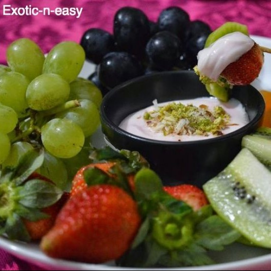 How to make Fruit Platter with creamy dip