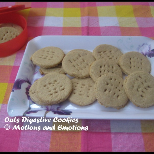 Photo of Eggless Oats Digestive Cookies by Amrita Roy at BetterButter