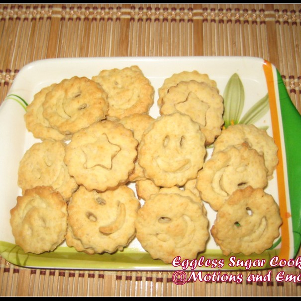 How to make Eggless Sugar Cookies