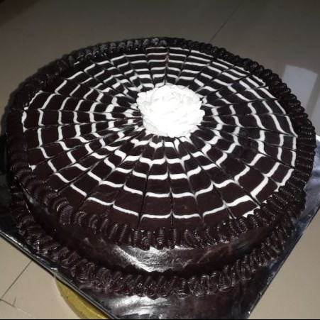 Photo of Spider Web Chocolate Truffle Cake by Mohini Surve at BetterButter
