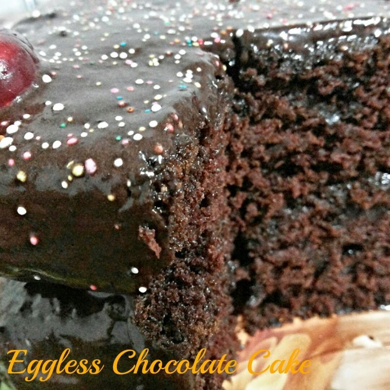 How to make Eggless Chocolate Cake with Chocolate Frosting