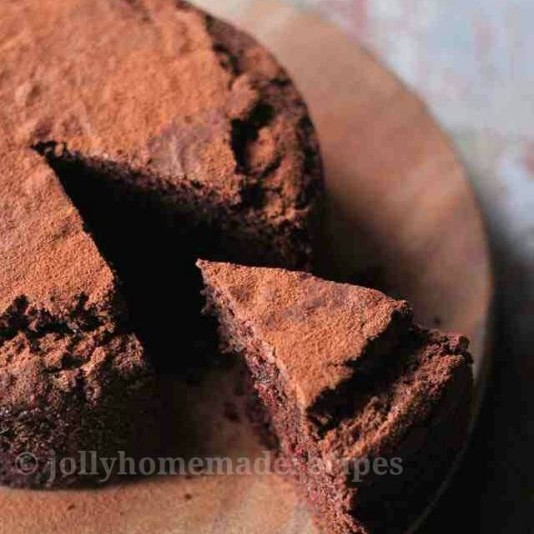 How to make Whole Wheat Eggless Chocolate Cake Recipe