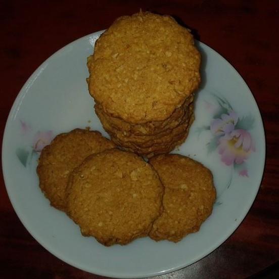 Photo of Oats & Almonds cookies by lakshmi kumari at BetterButter