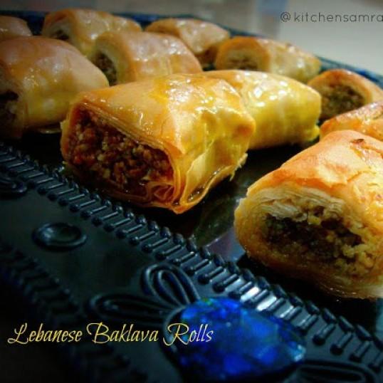 Photo of Lebanese Baklava Rolls by Niloufer Riyaz at BetterButter