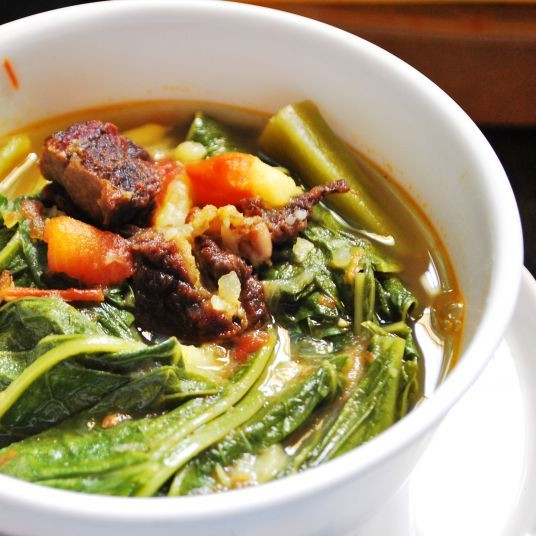 Photo of Mustard Greens and Dried Beef Curry by Christina Panmei at BetterButter