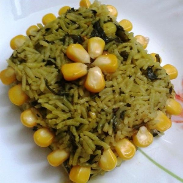 Photo of Palak-Corn Pulav by SANIKA NAIK at BetterButter