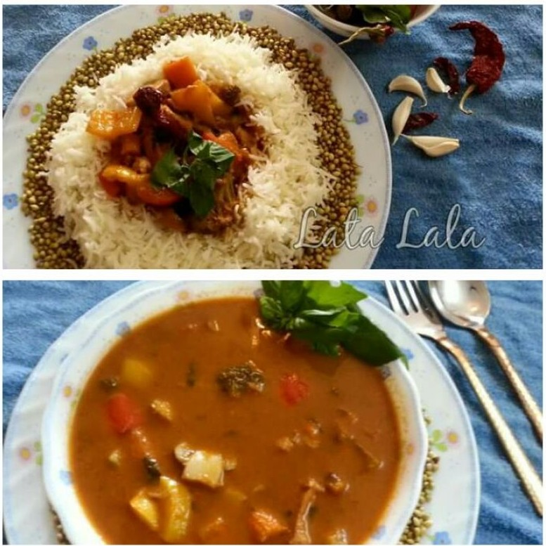 How to make Thai Red Curry With Steamed Rice