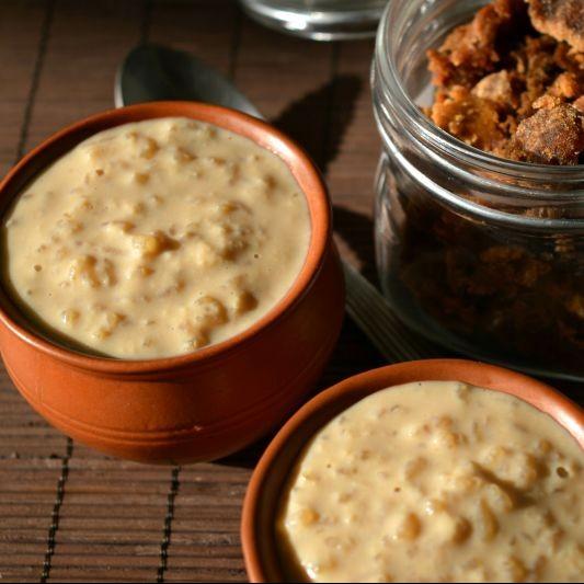 How to make Guda Khiri / Gur Payesh (Rice pudding with Jaggery)