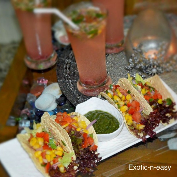How to make Corn Salsa in Papad Tacos