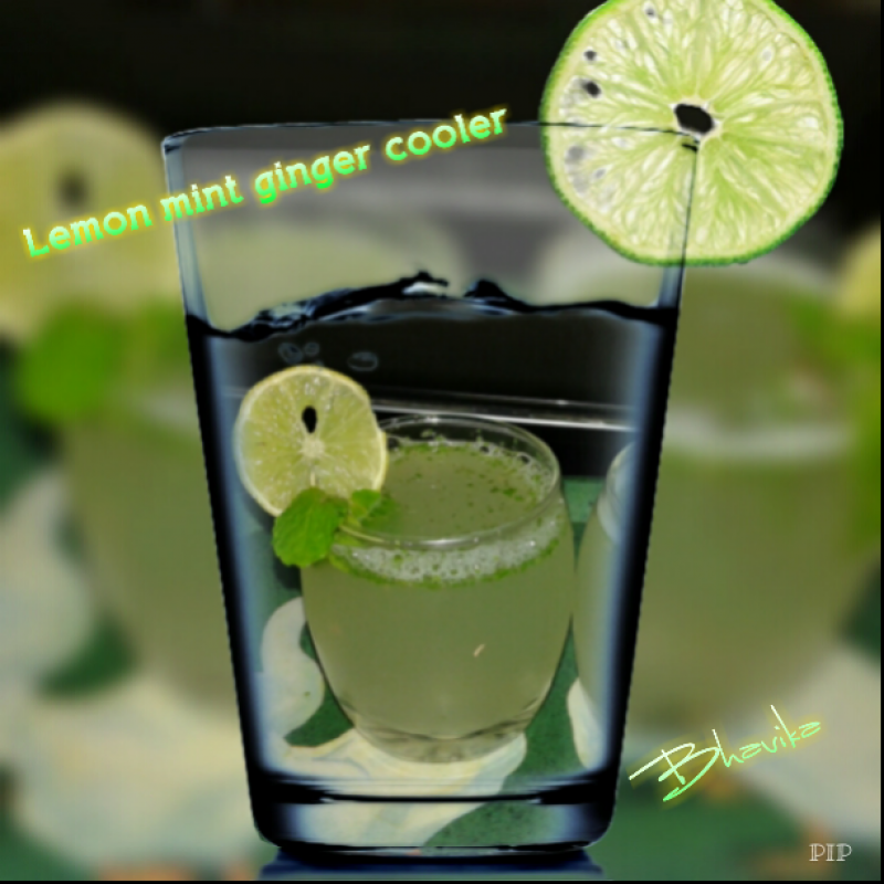 Photo of Lemon Mint Ginger Cooler by Bhavika Shrimankar at BetterButter
