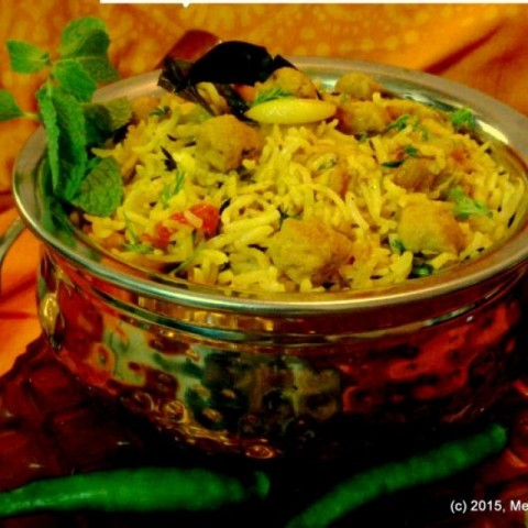 Photo of Soya Chunk Biryani by Meena C R at BetterButter