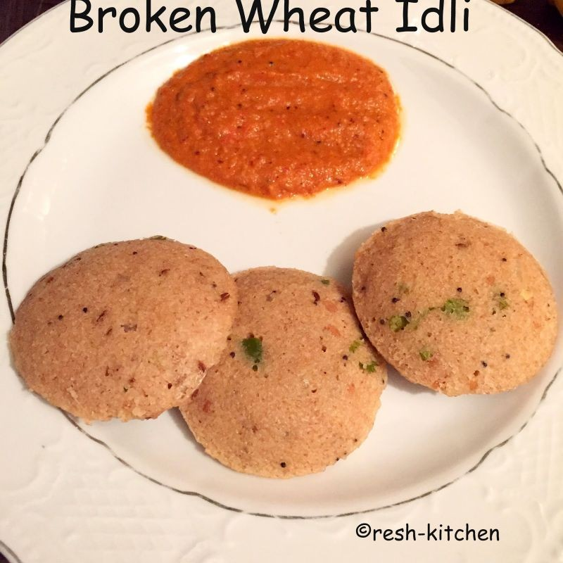 How to make Broken Wheat and Oats Idli
