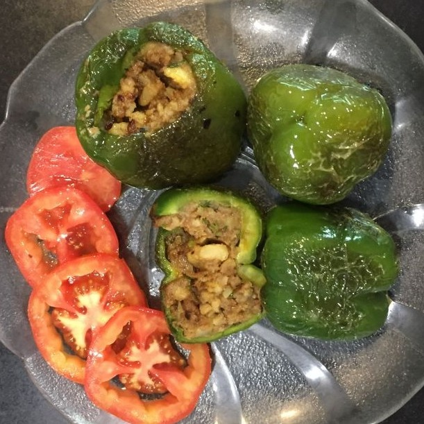 How to make Stuffed Shimala Mirch with potatoes ( Capsicum/ green bell peppers )