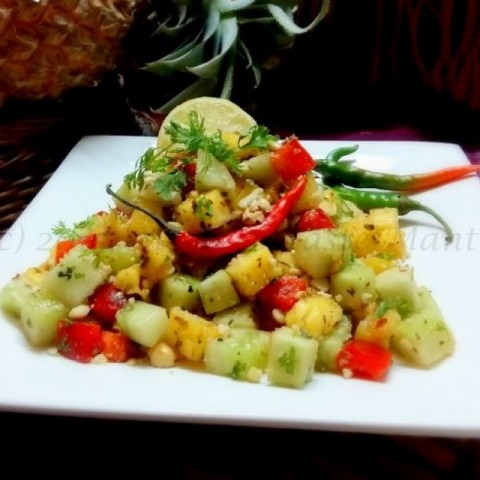 How to make Thai Style Pineapple Cucumber Salad